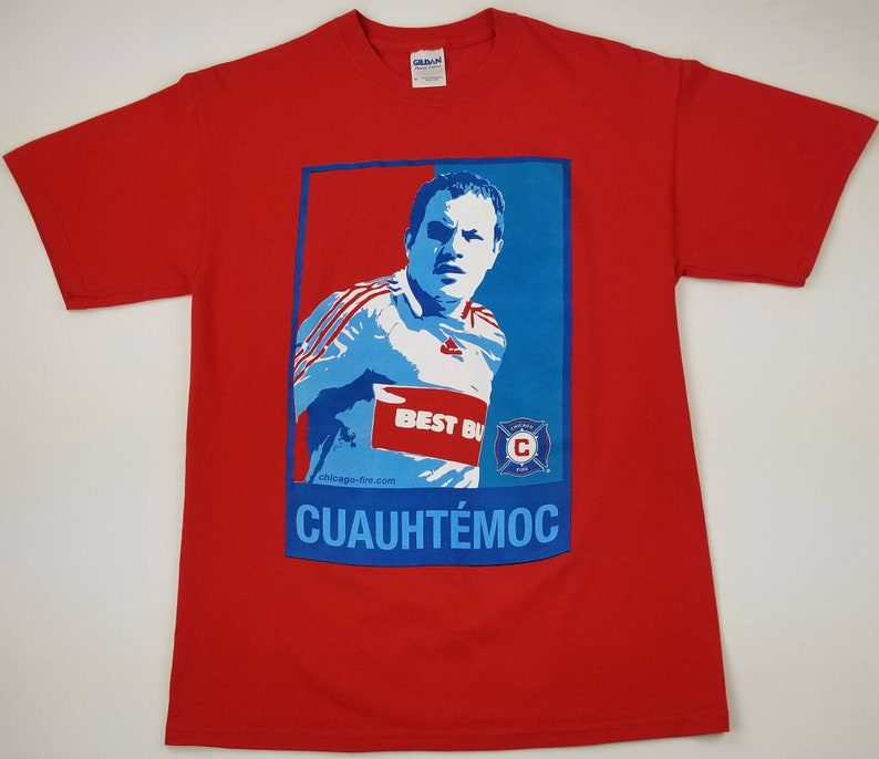 440a6e6f3 Vintage Chicago Fire Cuauhtemoc Blanco 10 MLS Jersey Style
