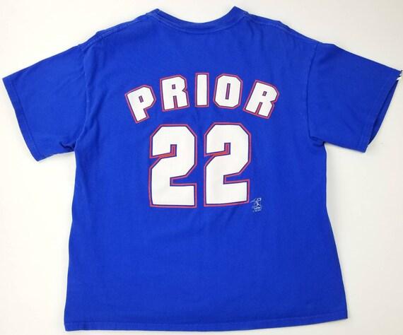 Vintage Chicago Cubs Mark Prior Blue MLB Jersey Like Baseball  ca3d42c14