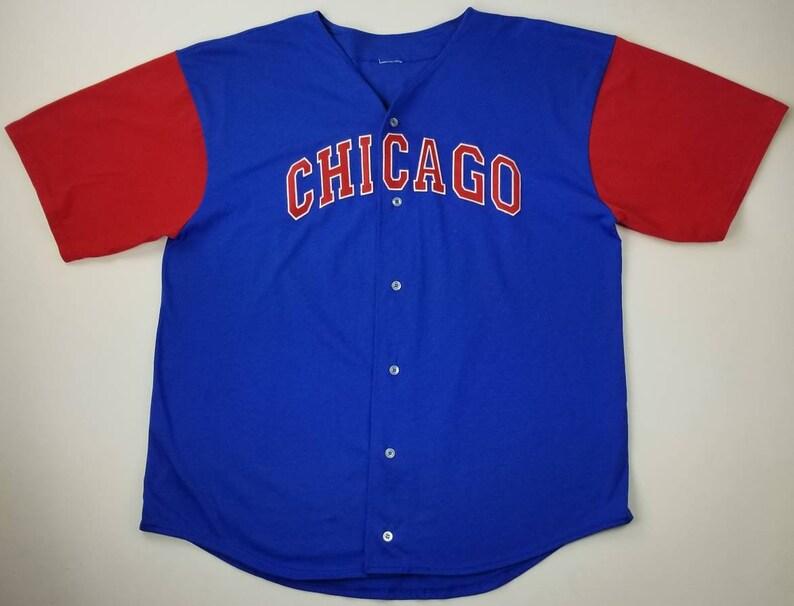 4419c13bd Vintage 90s Chicago Cubs Sammy Sosa 21 MLB Blue and Red