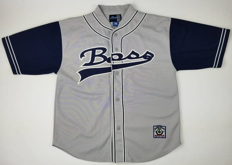 Vintage 90s Boss by I.G. Design Grey Blue Georgetown Hoyas  11ef62156