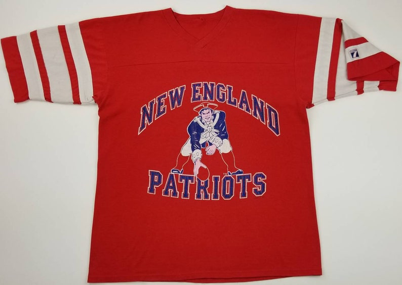 save off bee4f 20826 VTG 90s New England Patriots NFL Logo 7 Red Jersey T-shirt Size Large - tom  brady boston celtics bruins red sox julian edelman gronkowski