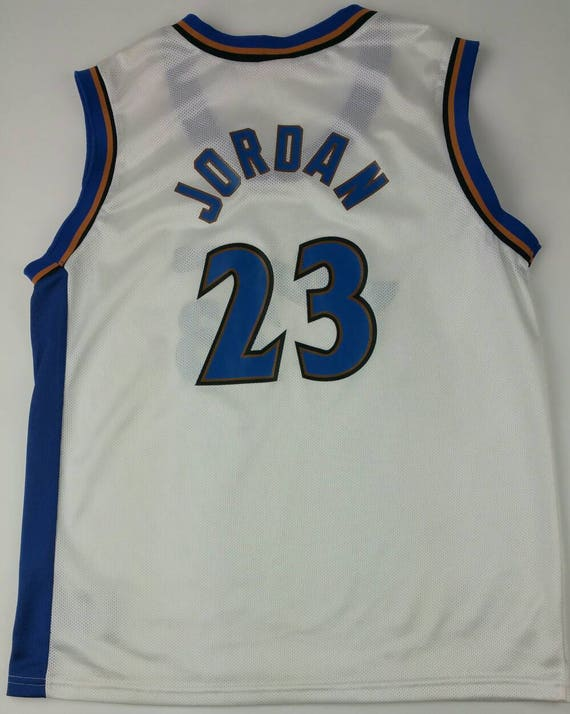 368e1993a96 Vintage Washington Wizards Michael Jordan 23 Home NBA Champion