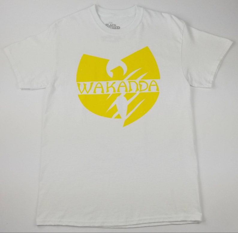 Marvel Black Panther x Wu-Tang Clan Wakanda T-shirt Size XL - Rap Tee Hip  Hop Te... Marvel Black Panther x Wu-Tang Clan Wakanda T-shirt Size XL - Rap  Tee ... 4a605d9db975