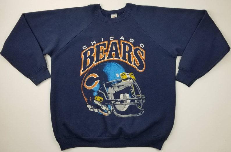 Vintage 90s Chicago Bears NFL Crewneck Sweatshirt Sweater Size  b558802c4