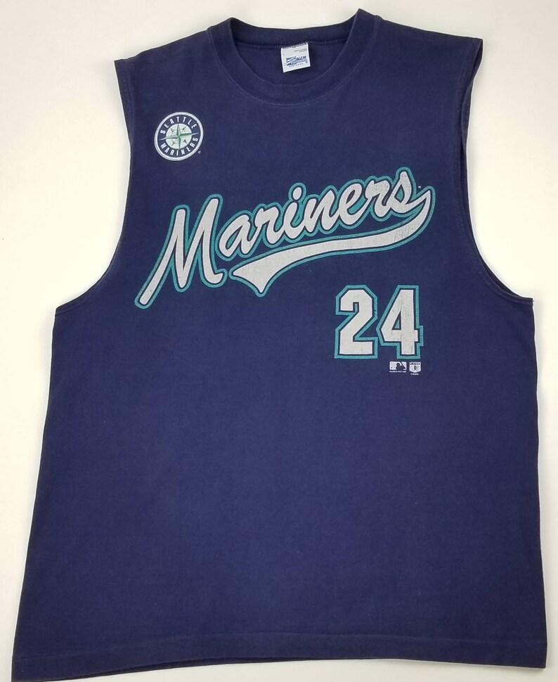e9c761af Vintage 90s Seattle Mariners Ken Griffey Jr 24 MLB Salem | Etsy