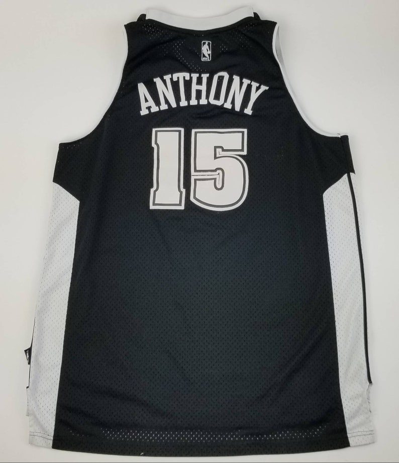 finest selection a38bf 78e2c REEBOK Denver Nuggets Carmelo Anthony (Black and White) Sewn Stitched NBA  Swingman Basketball Jersey Size XL - new york knicks