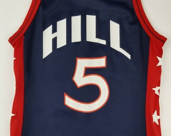 Vtg 90s Team USA Basketball Grant Hill NBA Champion Jersey Size: 40 - Dream Team 2 Detroit Pistons Orlando Magic Phoenix Suns 1996 Olympics