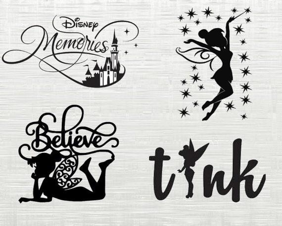 Tinkerbell Svg Cutfiles Disney Svg Disney World Svg Princess Etsy