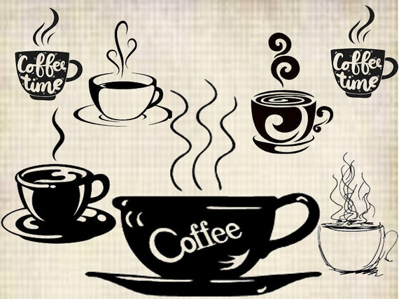 Coffee Svg Coffee Cutiles Silhouette Cameo Cutfiles Etsy