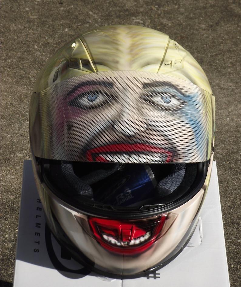 Harley Quinn Custom Painted Motorcycle Helmet Etsy