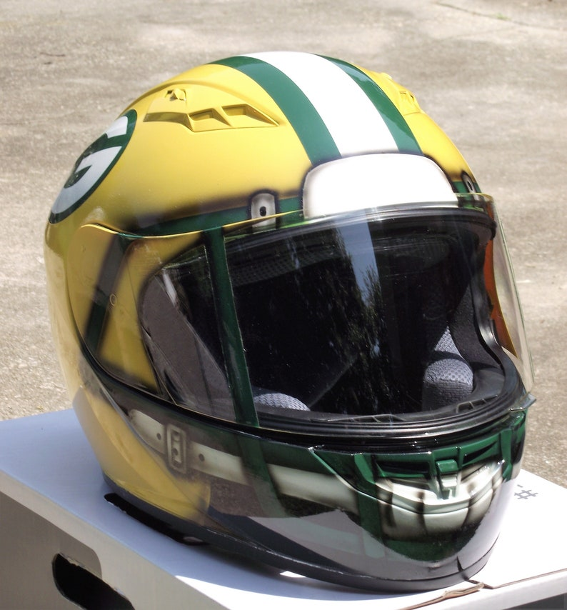 115a0f397a3cb Green Bay Packers custom painted motorcycle helmet