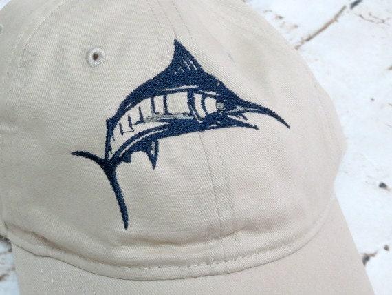 Blue Marlin - Fish Hat - Custom Embroidered Fishing Cap 9a31f7dbde61