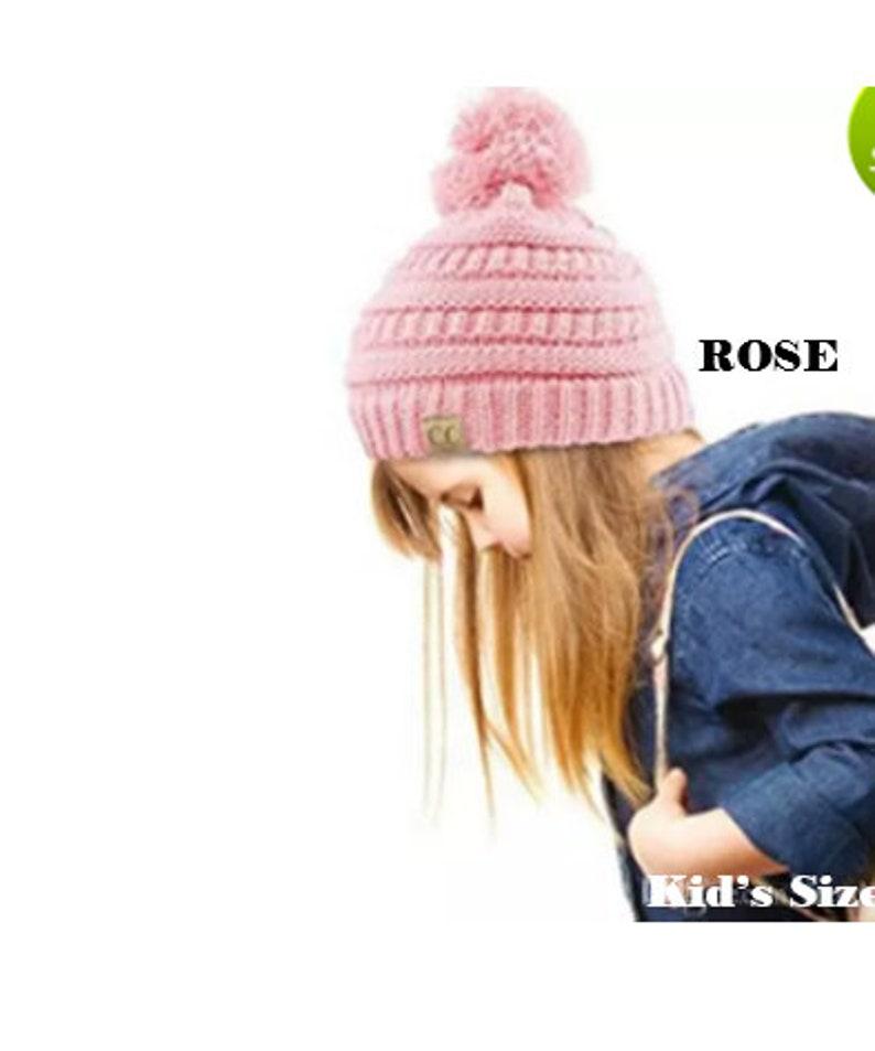 680d5446e41173 Monogrammed Girls CC Beanie POMPOM Hat Children's Kids | Etsy