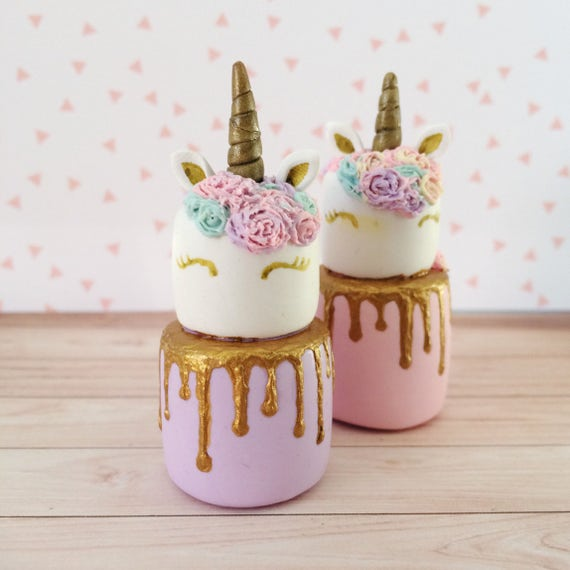 Miniature Unicorn Cake Dollhouse Cake Miniature Cake Etsy