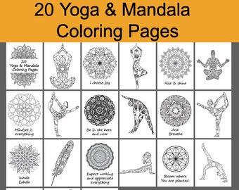 Mandala Coloring Book 30 Coloring Pages Printable Yoga   Etsy