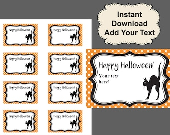 image about Printable Halloween Tag identified as Halloween Tags Halloween Printables Halloween Etsy