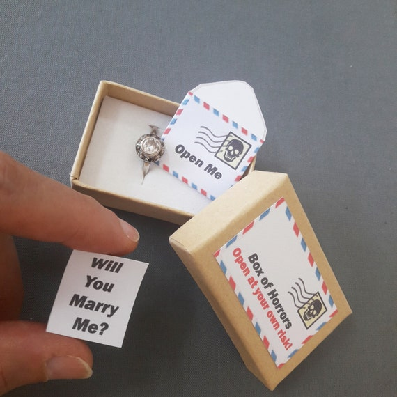 Wedding Proposal Alternative Ring Box Engagement Ring Box Hipster Engagement Proposal Ring Box Will You Marry Me Marry Me Ring Box