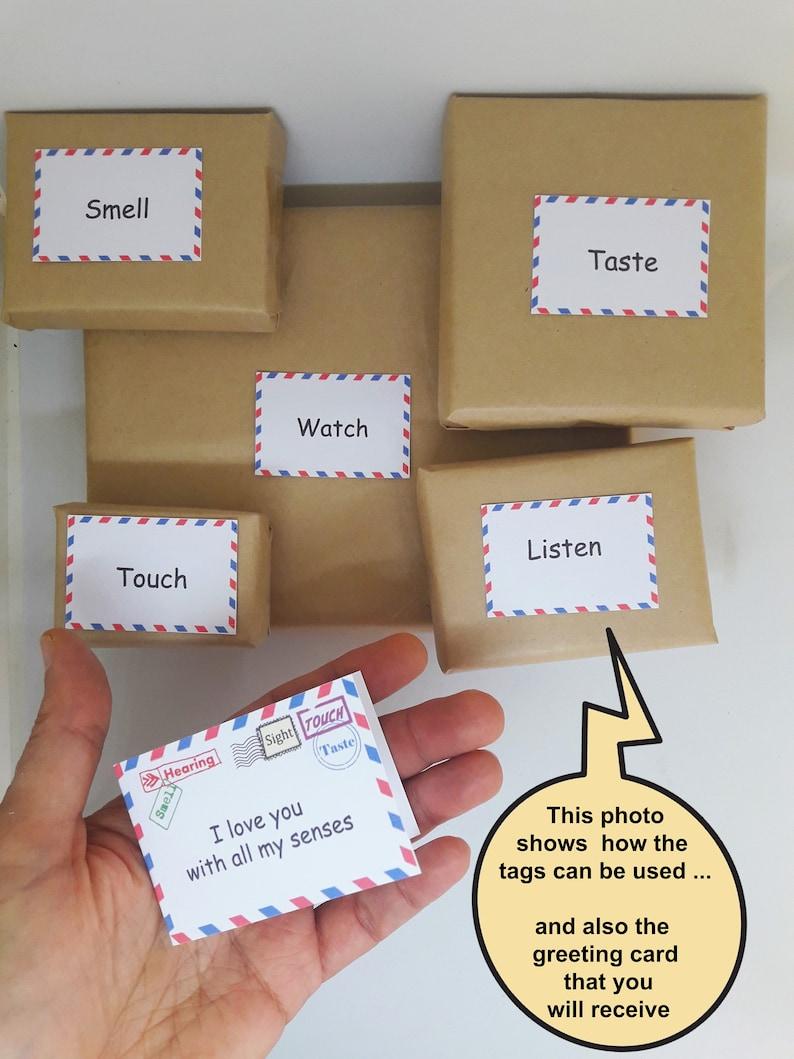 5 senses gift 50 printable cards date night jar valentines