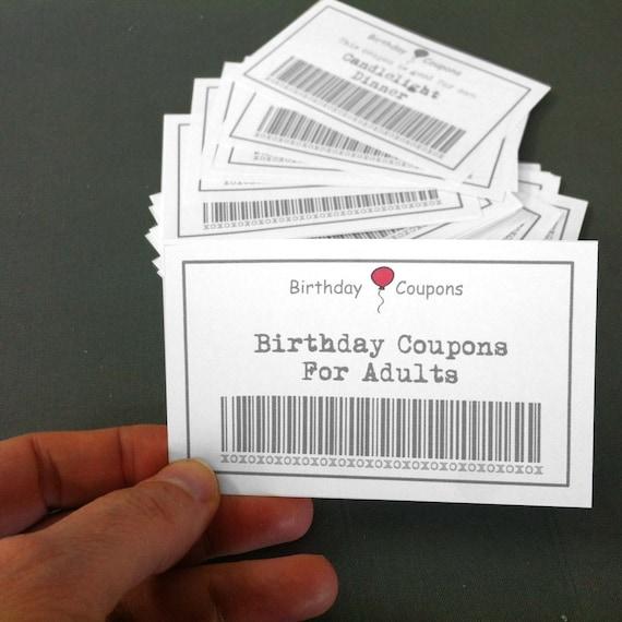 Birthday Coupons For Adults 39 Printable Coupons Diy Gift