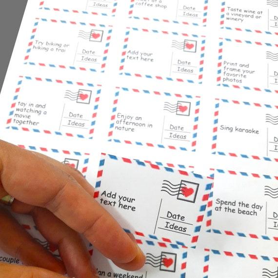 Editable Printable Date Night Date Night Ideas Diy Instant Etsy
