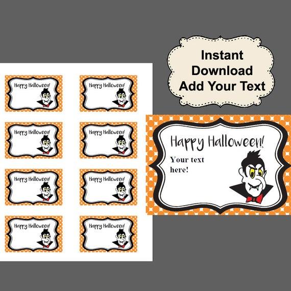 sc 1 st  Etsy & Halloween gift tags Halloween Favor Tag Printable Halloween | Etsy