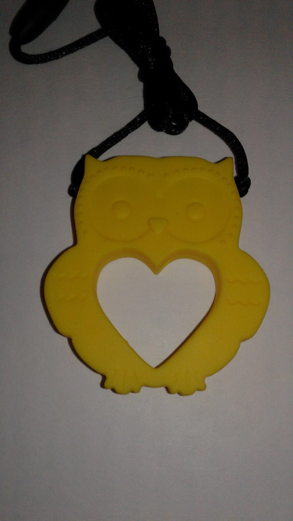 Owl sensory pendant, sensory, pendant, sensory necklace, fidget, adhd, asd, spd, autism, chewing necklace, child necklace, silicone necklace