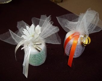 Personalized Wedding/Bridal Shower Candle Favors