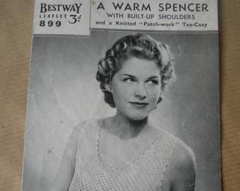 979fceb67f 1940 s vest and knickers set knitting pattern Weldons