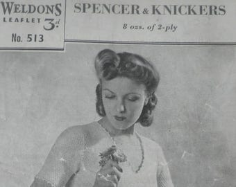 0448b5a079 1940 s vest and knickers set knitting pattern
