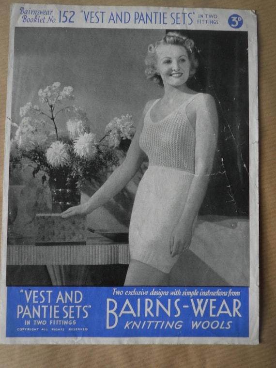 a310e02d8e 1940 s original Bairnswear knitting booklet no 152 Vest