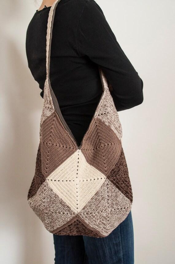 4660264dc465 Summer Crochet Shoulder Hobo Bag Reusable Eco Funky Oversized