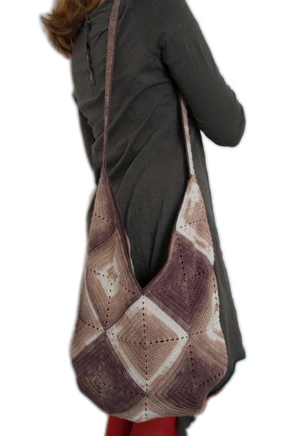 056fbfaab05a Summer Crochet Shoulder Hobo Bag Beige Reusable Eco Funky