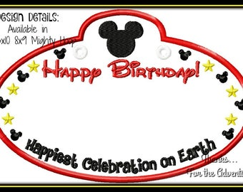 in the hoop disney minnie mouse happy birthday cast member etsy