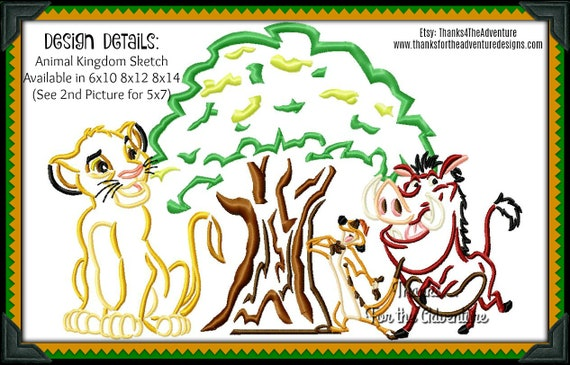 Animal Kingdom Tree Of Life Disney Lion King Simba Timon Pumba Etsy