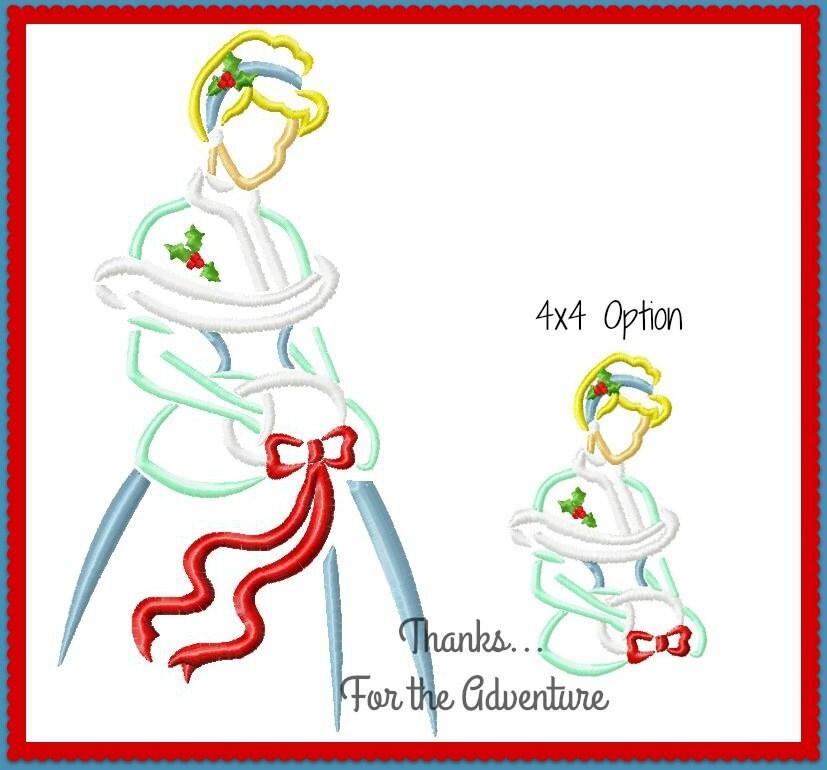 Weihnachten Prinzessin Cinderella Skizze digitale Maschine   Etsy