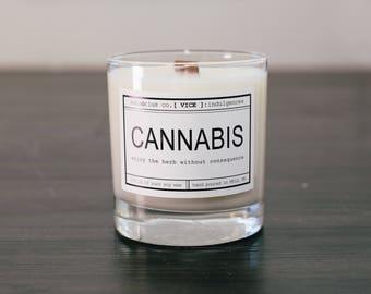 sensōrius co. CANNABIS soy candle