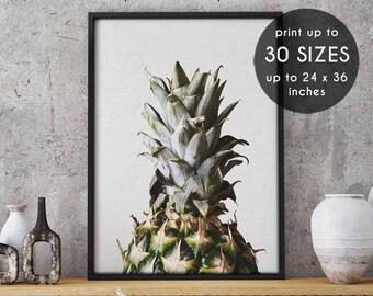 Pineapple printable, pineapple download, pineapple wall decor, home decor, fruit print, pineapple art print,digital print,photo,photograph,3