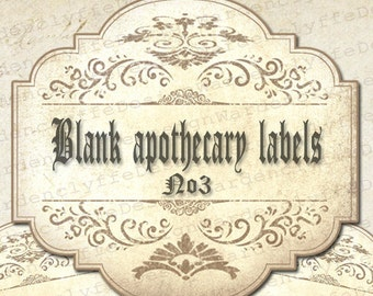 printable blank apothecary labels1 x 2 6 etsy