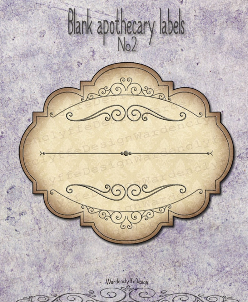 photo relating to Free Printable Vintage Apothecary Labels called Blank Apothecary Labels No2,(3\