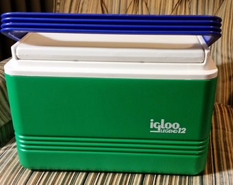 Igloo Legend 12 cooler green purple and white