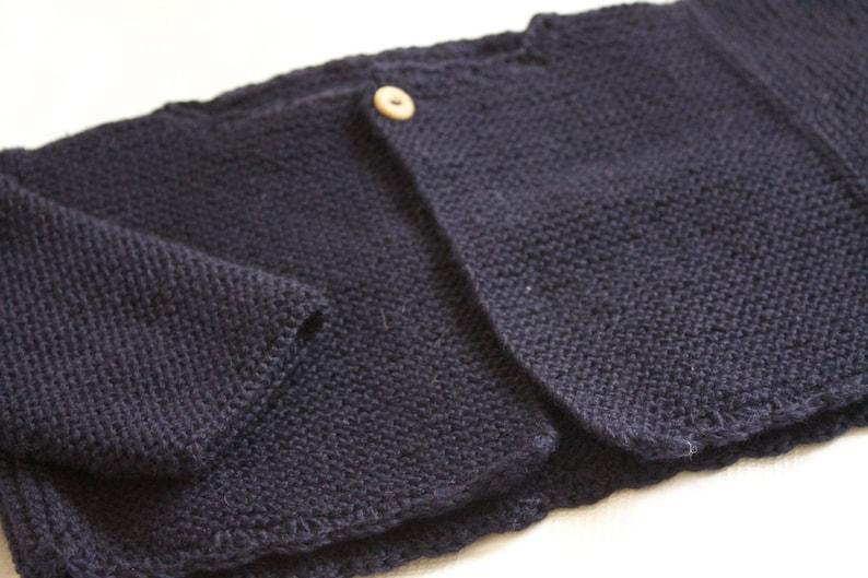 Patrón chaqueta manga lateral 12 meses en español image 0