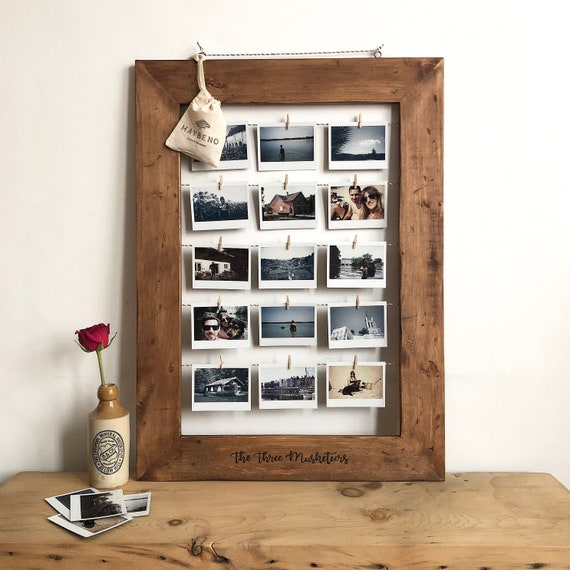 Large Wooden Photo Frame Instax Mini Polaroid Printed Etsy