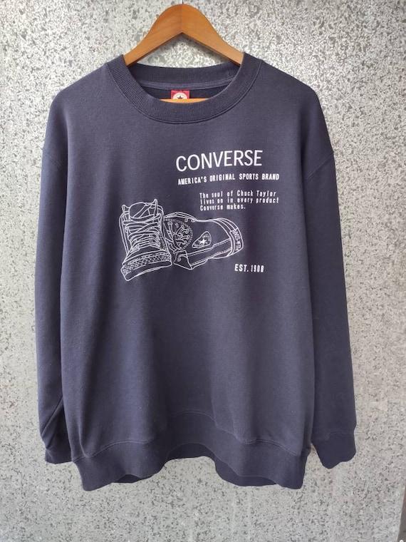 Vintage Converse sweatshirt shoes graphic Converse