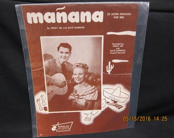 Peggy Lee & Dave Barbour - Manana -- Sheet Music