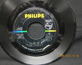 Paul & Paula: Young Lovers and Ba-Hey-Be - Philips 45 RPM