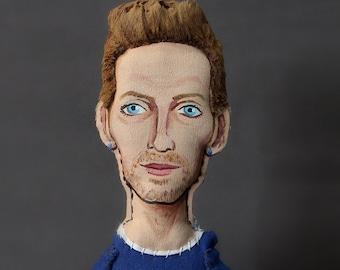 Chris Martin, Coldplay - Art Dolls - original art - figurative art - collectible doll -
