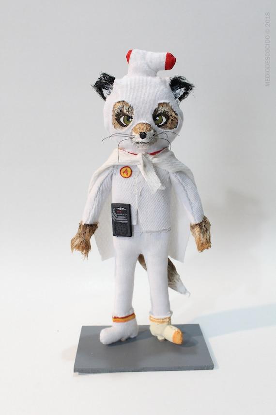 Ash Fox Original Art Figurative Art Collectible Doll Etsy