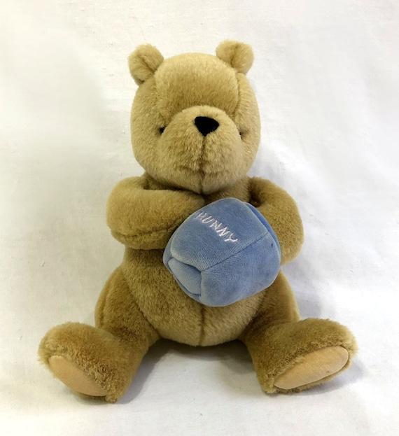 Classic Pooh Gund Musical Stuffed Plush 9 Bear Wind Up Etsy