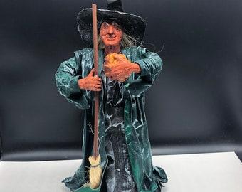 Winnie Salem Halloween owl witch Doll fall Hat Broom Paper Patten