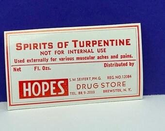 Spirit of turpentine | Etsy